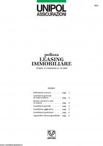 Unipol - Polizza Leasing Immobiliare - Modello 5022 Edizione 01-10-2004 [9P]