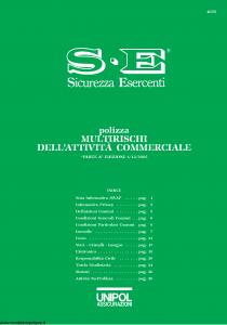 Unipol - Polizza Multirischi Dell'Attivita' Commerciale - Modello 4026 Edizione 01-12-2005 [33P]