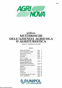 Unipol - Polizza Multirischi Dell'Azienda Agricola O Agrituristica - Modello 3022 Edizione 01-06-2009 [48P]