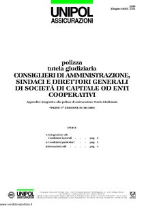 Unipol - Polizza Tutela Giudiziaria - Modello 2090 mod 2312 Edizione 08-2003 [4P]