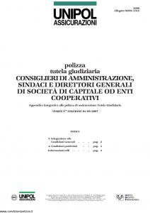 Unipol - Polizza Tutela Giudiziaria - Modello 2090 mod 2312 Edizione 09-2007 [4P]