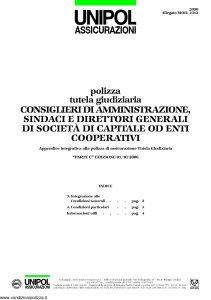 Unipol - Polizza Tutela Giudiziaria - Modello 2090 mod 2312 Edizione 10-2006 [4P]