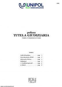 Unipol - Polizza Tutela Giudiziaria - Modello 2090 Edizione 07-2010 [12P]