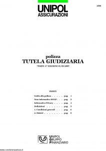 Unipol - Polizza Tutela Giudiziaria - Modello 2090 Edizione 09-2007 [12P]