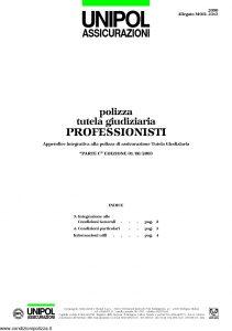 Unipol - Polizza Tutela Giudiziaria Professionisti - Modello 2090 mod 2313 Edizione 08-2003 [4P]