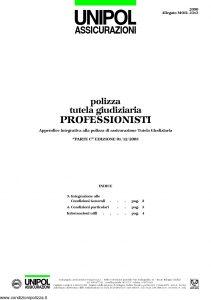 Unipol - Polizza Tutela Giudiziaria Professionisti - Modello 2090 mod 2313 Edizione 12-2005 [4P]