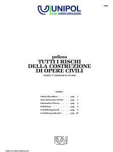 Unipol - Polizza Tutti I Rischi Della Costruzione Opere Civili - Modello 5006 Edizione 07-2010 [16P]