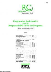 Unipol - Rc Impresa Programma Assicurativo Responsabilita' Civile Impresa - Modello 2028 Edizione 04-2006 [32P]