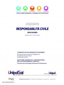 Unipol - Responsabilita Civile Rischi Diversi - Modello 2001 Edizione 04-2014 [34P]