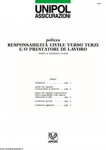 Unipol - Responsabilita' Civile Verso Terzi - Modello 2002 Edizione 01-08-2003 [9P]