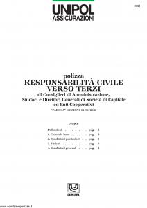 Unipol - Responsabilita' Civile Verso Terzi - Modello 2024 Edizione 01-01-2002 [5P]