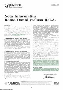 Unipol - Responsabilita' Civile Verso Terzi - Modello 2026 Edizione 01-11-2009 [27P]