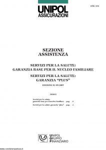 Unipol - Servizi Per La Salute - Modello 1036 Edizione 09-2007 [6P]