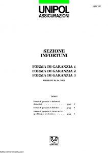 Unipol - Sezione Infortuni Forma Di Garanzia - Modello 1036-inf Edizione 01-2002 ver. 12-2005 [6P]