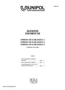Unipol - Sezione Infortuni Forma Di Garanzia - Modello 1036-inf Edizione 05-2009 [6P]