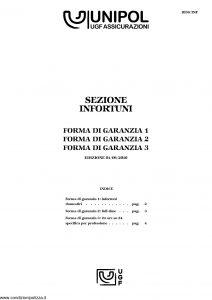 Unipol - Sezione Infortuni Forma Di Garanzia - Modello 1036-inf Edizione 06-2010 [6P]