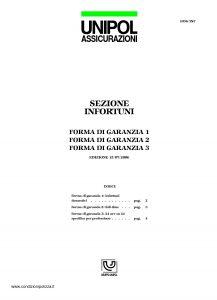 Unipol - Sezione Infortuni Forma Di Garanzia - Modello 1036-inf Edizione 07-2006 [6P]
