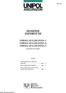 Unipol - Sezione Infortuni Forma Di Garanzia - Modello 1036-inf Edizione 09-2007 [6P]