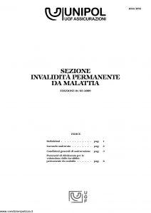 Unipol - Sezione Invalidita Permanente Da Malattia - Modello 1036-ipm Edizione 05-2009 [16P]
