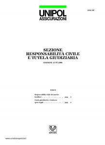 Unipol - Sezione Responsabilita' Civile E Tutela Giudiziaria - Modello 1036-rc Edizione 07-2006 [6P]