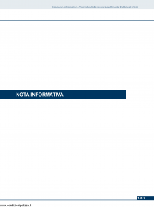 Unipol - Sicurezza Stabile Assicurazione Globale Fabbricati - Modello 7260 Edizione 01-03-2012 [52P]