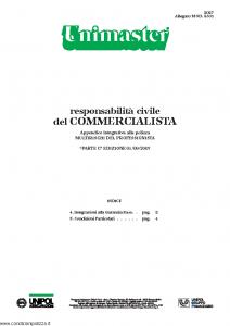 Unipol - Unimaster Responsabilita' Civile Del Commercialista Allegato Mod 2301 - Modello 2027 Edizione 01-09-2007 [4P]