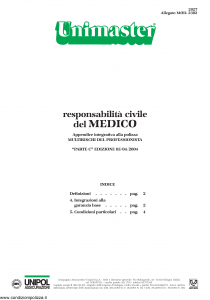 Unipol - Unimaster Responsabilita' Civile Del Medico Allegato 2302 - Modello 2027 Edizione 05-04-2004 [4P]