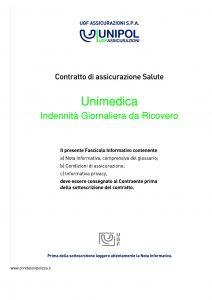 Unipol - Unimedica Indennita Giornaliera Da Ricovero - Modello 1059 Edizione 02-2011 [28P]