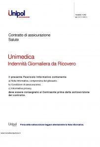 Unipol - Unimedica Indennita' Giornaliera Da Ricovero - Modello 1059 Edizione 11-2011 [26P]