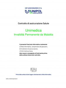 Unipol - Unimedica Invalidita Permanente Da Malattia - Modello 1060 Edizione 12-2010 [32P]