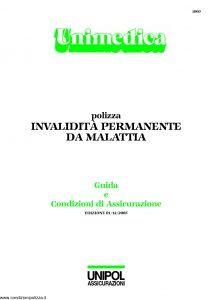 Unipol - Unimedica Invalidita' Permanente Da Malattia - Modello 1060 Edizione 12-2005 [27P]