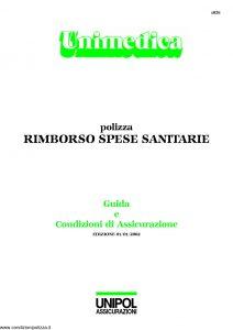 Unipol - Unimedica Rimborso Spese Sanitarie - Modello 1058 Edizione 01-2002 [22P]