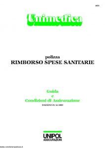 Unipol - Unimedica Rimborso Spese Sanitarie - Modello 1058 Edizione 12-2005 [31P]