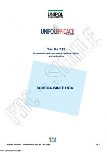 Unipol - Unipol Efficace Tariffa 712 - Modello 997 Edizione 02-2008 [74P]