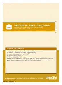 Unipolsai - All Risks Rischi Ordinari - Modello 3101 Edizione 11-2017 [44P]