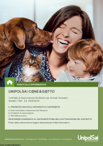 Unipolsai - Cane E Gatto - Modello 7300 Edizione 30-05-2018 [58P]
