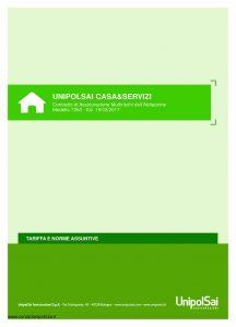 Unipolsai - Casa E Servizi Multirischi Dell'Abitazione Tariffe E Norme Assuntive - Modello 7263 Edizione 03-2017 [42P]