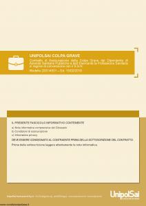 Unipolsai - Colpa Grave - Modello 2001-4501 Edizione 15-02-2018 [28P]