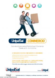 Unipolsai - Commercio Multirischi Per Il Commercio - Modello 4226 Edizione 01-03-2014 [114P]