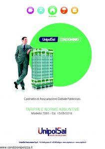 Unipolsai - Condominio Assicurazione Globale Fabbricati Tariffe E Norme Assuntive - Modello 7260 Edizione 05-2016 [30P]