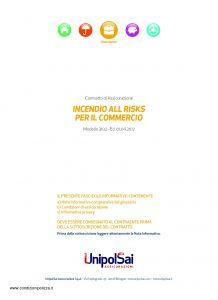 Unipolsai - Incendio All Risks Per Il Commercio - Modello 3102 Edizione 04-2017 [34P]