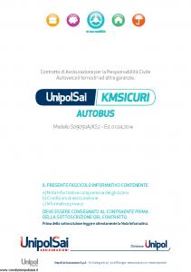 Unipolsai - Kmsicuri Autobus - Modello s09050a-ks2 Edizione 01-04-2014 [74P]