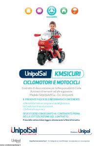 Unipolsai - Kmsicuri Ciclomotori E Moticicli - Modello s09050a-ks4 Edizione 01-03-2016 [106P]