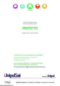 Unipolsai - Protetto Multirischi Dell'Abitazione - Modello 7201 Edizione 07-2014 [73P]