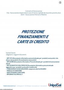 Unipolsai - Protezione Finanziamenti E Carte Di Credito - Modello sicpc Edizione 01-01-2019 [60P]