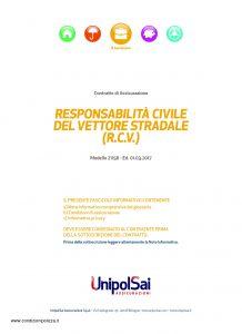 Unipolsai - Responsabilita' Civile Del Vettore Stradale - Modello 21156 Edizione 03-2017 [30P]