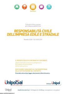 Unipolsai - Responsabilita' Civile Dell'Impresa Edile E Stradale - Modello 2026 Edizione 06-2014 [30P]