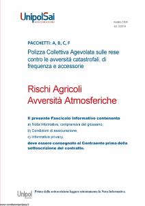 Unipolsai - Rischi Agricoli Avversita' Atmosferiche - Modello 1506 Edizione 02-2018 [82P]