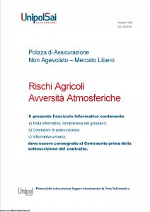 Unipolsai - Rischi Agricoli Avversita' Atmosferiche - Modello 1600 Edizione 02-2018 [75P]