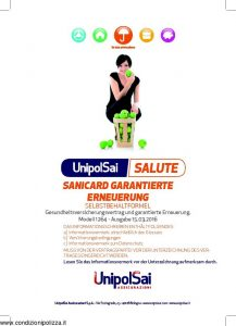 Unipolsai - Salute Sanicard Garantierte Erneuerung Selbstbehaltformel German - Modello 1264-003 Edizione 03-2016 [GERMAN] [52P]